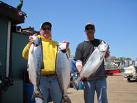 Larry and Terry and salmon