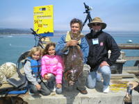 Serge and family and halibut