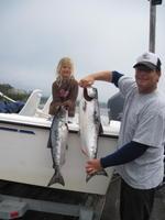 Brooke and Jim and salmon