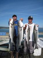Josh and Kurtis and striped bass
