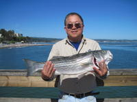 John and first striper of year