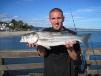 Chris and striped bass