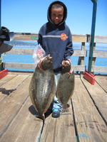Anthony and two halibut