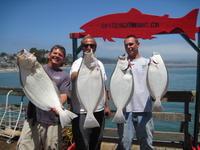 Myron Ed Greg and many halibut