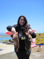 Lisa and rock fish