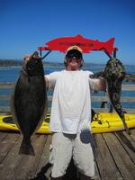 Myron and halibut and cabezon