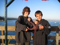Jeremy and Shane and starfish