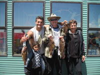 Russel Family and rock cod
