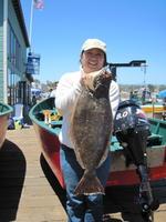 Yoko and halibut