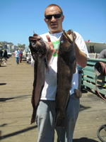 Friend of Brad and two lingcod