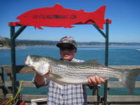Joey and striped bass