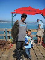 Miguel and Anthony and halibut