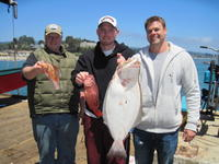 Sam Doug Clint and rock fish and halibut
