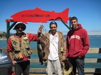 Chris, Alfredo, Brian, and rock fish and lingcod
