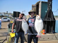 Damien Eddie and halibut