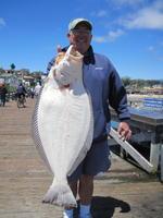 Doug and halibut