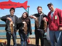Chris, Lisa, Brian, Omeed, and brown rock fish