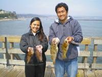 Happy rockfish anglers