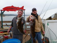 Chris and Kevin and lingcod