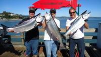 Kurtis, Matt, and me with salmon