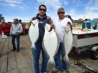 Capitola: Brad and John with Halibut