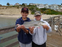 Capitola: Matt and Kevin and striped bass