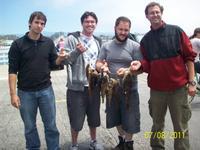 Santa Cruz: Matt, Alex, Leor and Michael had a great day.