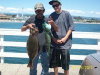 Santa Cruz: Richard and his friend Andy did very well near the Santa Cruz Wharf.
