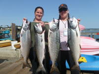 Capitola: Shawn and Ashey with Salmon