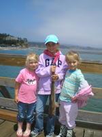 Bennett girls and sand shark