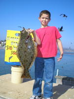 Justins son and halibut