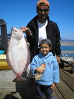 Thui and Matthew and Halibut