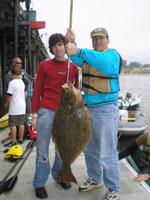 Paul and son and halibut