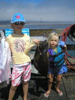 Shay and Brooke and halibut