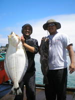 Troy Tyrus and halibut and ling