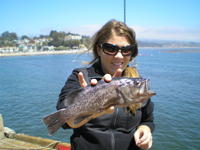 Kristina and rock cod