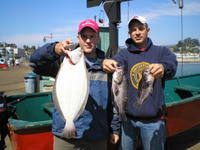 Aaron and friend and nice catch