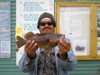 Rafael and brown rock cod