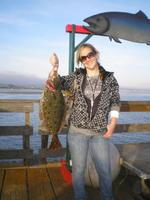 Kathy and halibut
