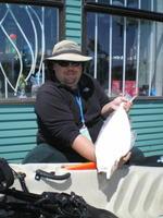 Halibut caught from kayak