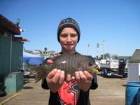 Ryan and black perch.